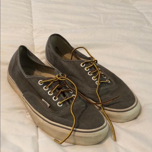 d4870e6d9a Vans x J.Crew washed canvas authentic sneakers. M 5a96e55936b9defcd8bf58f5